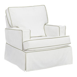 Comfort Small Square Arm Glider - This chair is really comfortable, and it has a variety of fabric and piping options.
