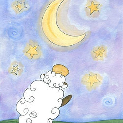 Oh How Cute Kids by Serena Bowman - Star Catcher - Sheep, Ready To Hang Canvas Kid's Wall Decor, 8 X 10 - Each kid is unique in his/her own way, so why shouldn't their wall decor be as well! With our extensive selection of canvas wall art for kids, from princesses to spaceships, from cowboys to traveling girls, we'll help you find that perfect piece for your special one.  Or you can fill the entire room with our imaginative art; every canvas is part of a coordinated series, an easy way to provide a complete and unified look for any room.