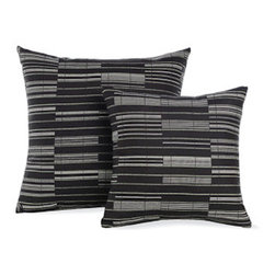 "Outdoor Pillows in Octave Maharam Fabric - Designed by Design Within Reach Suitable for indoor and outdoor use, these Pillows (2011) are upholstered in Maharam fabrics with a stain-resistant finish. For best results, store cushions inside during inclement weather. Made in U.S.A. DWR Exclusive Share this: Item# Product Qty Price 26857 18"" Outdoor Pillows in Octave Maharam Fabric Was: $85.00 USD Now: $72.25 USD Select a Color Black.Natural - $72.25 Mustard - $72.25 Sea.Green - $72.25 26862 24"" Outdoor Pillows in Octave Maharam Fabric Was: $105.00 USD Now: $89.25 USD Select a Color Black.Natural - $89.25 Mustard - $89.25 Sea.Green - $89.25 Measurements: H 18"" W 18"" H 24"" W 24"" Materials: Upholstered in Maharam Octave fabric (65% Sunbrella® contract solution-dyed acrylic, 35% Sunbrella® contract solution-dyed polyester); polyester-wrapped foam. Measurements & Materials More Information Measurements: H 18"" W 18"" H 24"" W 24"" Materials: Upholstered in Maharam Octave fabric (65% Sunbrella® contract solution-dyed acrylic, 35% Sunbrella® contract solution-dyed polyester); polyester-wrapped foam."