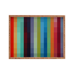 DENY Designs - Madart Inc City Colors Rectangular Tray - With DENY's multifunctional rectangular tray collection, you can use it for decoration in just about any room of the house or go the traditional route to serve cocktails. Either way, you''_''__ll be the ever so stylish hostess with the mostess!