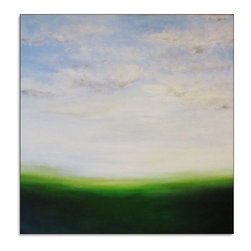 Free Shipping - Large Original Abstract Landscape Canvas Modern Acrylic Painting - Free Shipping