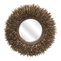 IMAX CORPORATION - Lux Coco Shell Round Mirror - Lux Coco Shell Round Mirror. Find home furnishings, decor, and accessories from Posh Urban Furnishings. Beautiful, stylish furniture and decor that will brighten your home instantly. Shop modern, traditional, vintage, and world designs.