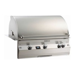 """Fire Magic - Aurora A790i2A1N Built In NG Grill with Backburner & Infrared System - A790 Built In Grill with Rotisserie Backburner & Infrared Burner System A790i Series Features: Cast stainless steel """"E"""" burners - guaranteed for life"""