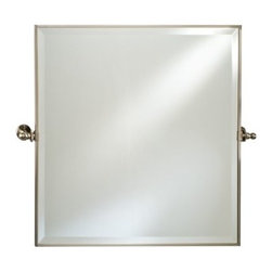 Afina Radiance Square Gear Tilt Mirror - 24 x 24 in. - The Afina Radiance Square Gear Tilt Mirror - 24W x 24H in. is a classic mirror with excellent function. Featuring a gear-style tilt mechanism, the mirror tilts to match your preferences. This oval mirror installs easily, and is available in your choice of finish.About AfinaAfina Corporation is a manufacturer and importer of fine bath cabinetry, lighting fixtures, and decorative wall mirrors. Afina products are available in an extensive palette of colors and decorative styles to reflect the trends of a new millennium. Based in Paterson, N.J., Afina is committed to providing fine products that will be an integral part of your unique bath environment.