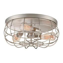 Millennium Lighting - Millennium Lighting 5323 Neo-Industrial 3 Light Flush Mount Ceiling Fixture - Lamping Technologies:
