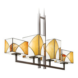 """Kichler - Tiffany Kichler Elias 40"""" Wide 4-Light Olde Bronze Chandelier - The Elias collection features gorgeous clear seeded glass and cut stone shades for an artistic look. This four light olde bronze chandelier is warm and offers ambient lighting that's great for seating areas dining rooms and kitchens. From Kichler. Elias collection 4-light chandelier. Olde bronze finish. Clear seeded glass and cut stone shade. Takes four maximum 100 watt or equivalent bulbs (not included). Includes two 12"""" and four 6"""" downrods. 25"""" high. 40"""" wide. 10"""" deep. Hang weight 17 3/4 lbs.  Elias collection 4-light chandelier.  Olde bronze finish.  Clear seeded glass and cut stone shade.  Design by Kichler lighting.  Takes four maximum 100 watt or equivalent bulbs (not included).  Includes two 12"""" and four 6"""" downrods.  25"""" high.  40"""" wide.   10"""" deep.  Hang weight 17 3/4 lbs."""