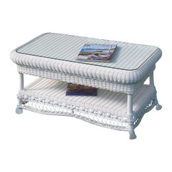 Wicker Paradise - Outdoor Wicker Coffee Table - Manchester - -Premium Outdoor Wicker Framed on Aluminum for maximum durability!  -Available in White, Cappuccino Brown.