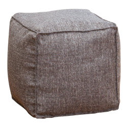 Great Deal Furniture - Luther Fabric Cube Pouf, Grey - Whether you want to put your feet up at the end of a long day or just want a stylish accent for your home, the Luther Fabric Cube poufs are a fun and easy addition to any space. Crafted from sturdy poly-acrylic blend fabric, they are double-stitched ensuring a puncture-free use. They are filled with environmentally friendly polystyrene beads that offer the perfect combination of strength and softness. Lightweight and durable, the Luther poufs are comfortable enough to be used as additional seating.