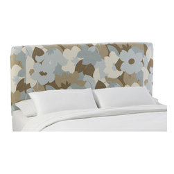 """Skyline Furniture - Slip Cover Upholstered Headboard - This trendy slipcover headboard is manufactured with a sturdy solid pine frame. Features: -Trendy esprit sea glass style.-Makes a great addition to any bed in your home.-Spot clean only.-Made in the USA.-Solid wood construction.-Slipcover collection.-Gloss Finish: No.-Frame Material: Pine wood.-Hardware Material: Steel.-Wall Mounted: Yes.-Reversible: No.-Media Outlet Hole: No.-Built In Outlets: No.-Hardware Finish: Black metal.-Finished Back: No.-Distressed: No.-Hidden Storage: No.-Freestanding: No.-Frame Required: Yes.-Frame Included: No.-Drill Holes for Frame: Yes.-Frame Compatibility: Any standard bed frame.-Commercial Use: No.-Recycled Content: No.Specifications: -EPP Compliant: No.-CPSIA or CPSC Compliant: Yes.-CARB Compliant: Yes.-JPMA Certified: No.-ASTM Certified: No.-ISTA 3A Certified: Yes.-PEFC Certified: No.-General Conformity Certificate: Yes.-Green Guard Certified: No.Dimensions: -Overall Product Weight (Size: California King): 40 lbs.-Overall Product Weight (Size: Full): 31 lbs.-Overall Product Weight (Size: King): 45 lbs.-Overall Product Weight (Size: Queen): 33 lbs.-Overall Product Weight (Size: Twin): 24 lbs.-Leg Height: 6"""".-Bottom of Headboard to Floor: 24"""".Assembly: -Assembly Required: Yes.-Tools Needed: Allen wrench, wrench.-Additional Parts Required: No.Warranty: -Skyline Furniture provides 1 year limited warranty (except fabric).-Product Warranty: 1 Year limited (Excludes fabric)."""