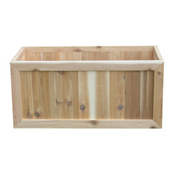 Phat Tommy - Rectangular Garden Planter Box - Gives your plants and roots lot of room to spread out with our large rectangular planter! Fill with one kind of plant or create varied display. Use potted plants or fill with soil and plant directly. Western red cedar is naturally resistant to rot and insect damage and will turn silver patina if left untreated.