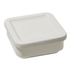 "Alessi - Alessi ""Programma 8"" Medium Square Container with Lid - Dinner was so good last night, you can't wait for lunch to have leftovers. This handy white container sports a tight lid to keep your food safe and sealed, at home or at the office. How many hours 'till noon?"