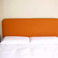 Modern Bedroom Orange headboard