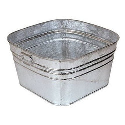 Galvanized Washtub - If your laundry area doubles as a storage space, bins like these galvanized wash tubs are handy for storing bulky items.