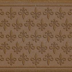 Bungalow Flooring - Aqua Shield 2'x3' Fleur Field Doormat, Dark Brown - Premium 24-oz. anti-static polypropylene mat traps dirt, water and mud.