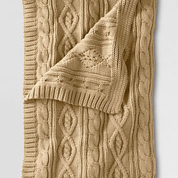 Lakeland Cotton Cable Throw - Classic cable knit is so incredibly cozy; it's like wrapping yourself in your favorite sweater. This is perfect for sitting by the fireside in the winter.