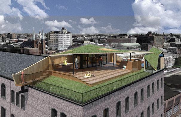 Contemporary Rendering by Sandvold Blanda Architecture + Interiors LLC