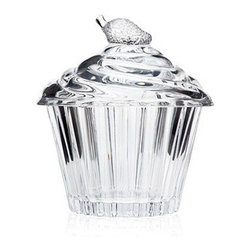 Godinger Large Cupcake Box - The Godinger Large Cupcake Box is the ultimate display case for your cupcake creation. This fun glass box has a cupcake topper with a strawberry finial and ridged bottom to look like a crystal clear cupcake. Also makes an adorable catch-all!About GodingerBased in Ridgewood, N.Y., Godinger has been creating distinctive kitchenware, home decor, and gifts for over 40 years. Hand-crafted from crystal, pewter, and silver, Godinger's unique wedding gifts and home decor make any special occasion even more meaningful. From serving dishes and silverware, to barware and centerpieces, their wide tableware selection puts the art back into dining. Godinger is committed to providing excellent quality and style at affordable prices for every customer.