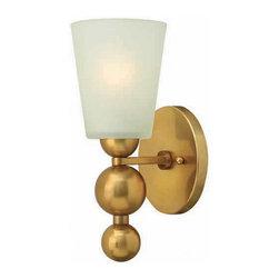 Hinkley Lighting - Hinkley Lighting 3440VS Zelda Vintage Brass Wall Sconce - Hinkley Lighting 3440VS Zelda Vintage Brass Wall Sconce