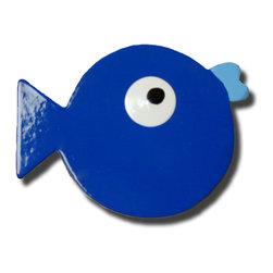 RR - Puffer Fish Dark Blue Drawer Pull - Puffer Fish Dark Blue Drawer Pull