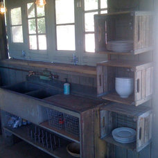 Eclectic Kitchen by Silver Fox Salvage Los Angeles