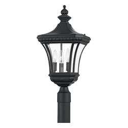 Quoizel - Quoizel DE9011K Devon Transitional Outdoor Post Lantern - Treat the exterior of your home with lighting worthy of the beauty and security your family deserves.  This transitional style with clear, beveled glass fits into most any neighborhood, and with most any architecture style.