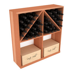Wine Racks America - Solid Case/Bottle Storage Bin in Redwood, (Unstained) - Store cases and bottles together in our versatile and durable option from the bottle bin storage family. Easy assembly and bottle loading makes this rack perfect for any collector. Made from high quality solid pine or redwood, this wine bin is built to last. That is guaranteed.