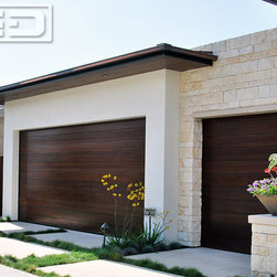 Custom Contemporary Garage Doors in a Minimalistic Style by Dynamic Garage Door -