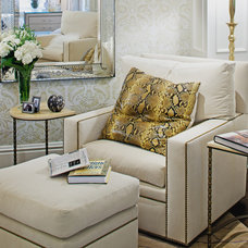 Traditional Armchairs by Jamie Herzlinger