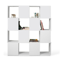 Temahome - Temahome Branch Shelving Unit, Various Sizes, 4-X-4 - Open and closed shelves, where the objects can be visible or hidden.TemaHome produces a collection of contemporary furniture and decorative accents, that combine modern lines and award winning designs by some of the most respected Portuguese designers, such as Fernando Brizio and Filipe Alarcao. This attention to the design of each product, results in timeless pieces that can fit into an endless variety of contexts.