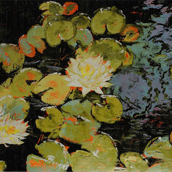 Paragon Decor - Water Lily II Artwork - A garden in water, our water lilies feature a gallery style wrap.