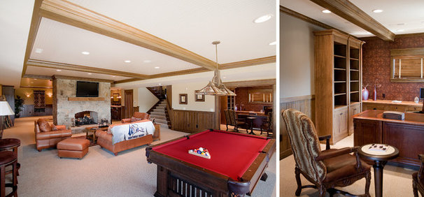Traditional Basement by Martin Bros. Contracting, Inc.
