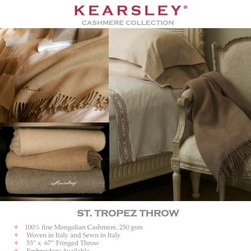 Digital Sample Book - Kearsley Couture St. Tropez cashmere throw information