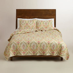Watercolor Ogee Reversible Quilt -