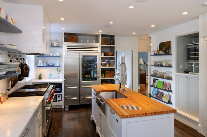 Transitional Kitchen by Pinemar, Inc