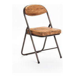 Moes Home Collection - Tivoli Dining Chair - Set of 2 - Set of 2. Foldable chair. Made from pine wood and iron. Natural finish. No assembly required. Seat Height: 17.7 in.. 15.7 in. W x 15.7 in. D x 31.1 in. H (13 lbs.)