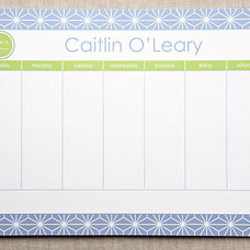 One Kings Lane - Personalize It! - Custom Desk Blotter Notepad, Blue Stars