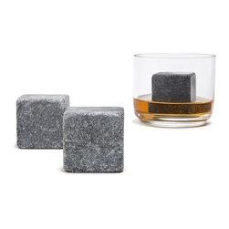 "Teroforma - Max Whisky Stones - Milled in Vermont by the oldest soapstone workshop in the US. Add one chilled stone to your next dram, let stand for 5 minutes and enjoy. These Whiskey stones from Soapstone will sustain the bourbon Temperature without dilation. These stones are non-porous, odorless, tasteless and will not harbor bacteria. Sustains the Chill for drinks as in scotch, whiskey, white wine and champagne.  * Set of 2 * Not for use with larger volume drinks                     * 1.5"" Cubed"