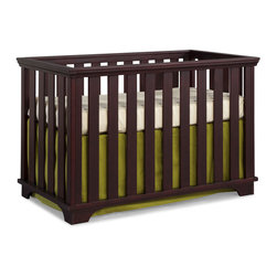 None - Midtown Large Slat Cottage Crib - Available in both chocolate and white finishes,this Midtown large slatted crib is made of top quality,durable and safe materials. The sturdy design has a steel spring mattress support with three height adjustments.