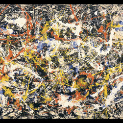 Amanti Art - Convergence Framed Print by Jackson Pollock - This lush painting by Jackson Pollock exhibits such life, energy and emotion a choreography of color and movement that is open to a unique interpretation by anyone viewing it.