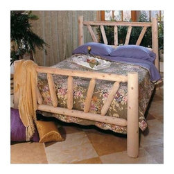 Rustic Cedar - Sunburst Frame Slat Bed - Add warmth and charm to your home or retreat with these cedar log beds. Each bed comes complete with headboard, footboard, and side rails. Note: All Rustic beds come with a headboard, footboard, and side rails. At an additional cost, metal support systems for double, queen, and king beds are available. King beds will NOT support California king mattresses or box springs. Bed dimensions are outside-to-outside, and may vary due to log size. Features: -Comes with headboard, footboard, and side rails.-Dimensions are outside-to-outside, and may vary due to log size.-8'' clearance under bed.-About Cedar Cedar is the natural choice because of its beauty, practicality and durability. Rustic Cedar uses only the finest cedar to create furniture that lasts for generations. It is naturally resistant to decay, insect and weather damage. Because of this superior resistance, cedar is frequently used for outdoor fencing, and siding on homes. Cedar has an exceptionally high strength-to-weight ratio, which means that it is both durable and easy to move about. It does not shrink or wrap as many other woods commonly do. Unlike pressure-treated wood furniture, Rustic Cedar uses no chemical preservatives that may be harmful to your family's health. All cedar log furniture is subject to the natural process of checking as the wood ''seasons.'' Checking occurs as wood releases moisture across or through the annual growth rings and it does not affect the structural performance or integrity of the wood. Therefore cracks in Cedar furniture are quite normal and can happen at any time. The cracks can vary in sizes but are sure to not affect the quality or resistance of the product as this is a natural process of Cedar furniture..-Distressed: No.-Country of Manufacture: Canada.Warranty: -Manufacturer's 5 year limited warranty. About the Manufacturer: About Rustic Cedar Furniture Crafted with care in Quebec and Brit'sh Columbia, Rustic Cedar's long-lasting 