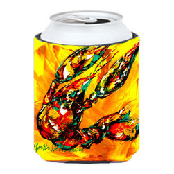 Caroline's Treasures - Crawfish  on the Move Can or Bottle Hugger - Can Cooler - this collapsible koozie fits 12 ounce beverage. Cans or bottles. Permanently dyed and fade resistant. Will not crack or peel. Great to show off your breed. Match with one of the insulated coolers for a nice gift pack.