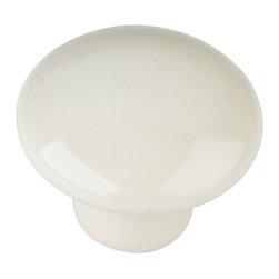 Elements - 1-3/8 Inch Dia Ceramic Knob with One 8/32 Inch x 1 Inch Screw, Almond - 1 3/8 inch Diameter Ceramic Cabinet Knob. Packaged with one 8/32 inch x 1 inch screw. Finish: Almond