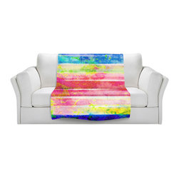 DiaNoche Designs - Throw Blanket Fleece - Spotted Stripes - Original Artwork printed to an ultra soft fleece Blanket for a unique look and feel of your living room couch or bedroom space.  DiaNoche Designs uses images from artists all over the world to create Illuminated art, Canvas Art, Sheets, Pillows, Duvets, Blankets and many other items that you can print to.  Every purchase supports an artist!