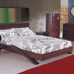 Unique Wood Modern Contemporary Bedroom Designs - Extraordinary modern bedroom set tyra. This price is given for Queen Size Bedgroup, which includes - Bed itself, Dresser + Mirror and 2 nightstands.