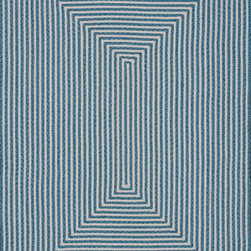 """Loloi - Loloi Indoor Outdoor IO-01 (Aqua) 7'10"""" Round Rug - Hand-braided in China of 100% polypropylene, the In/Out collection offers a fun and simplistic look. This easy-to-place collection works nicely in an interior space or outdoors, and is available in an array of both neutral and vibrant colors."""