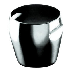 Alessi - Alessi 1-quart Ice Bucket - You've discovered a new definition of ice sculpture. This beautiful ice bucket features graceful indentations that allow you to easily grip the container, as you carry it from kitchen to wherever the party's at.