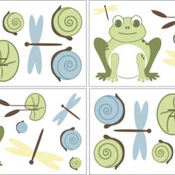 Sweet Jojo Designs - Leap Frog Wall Decal Set of 4 Sheets by Sweet Jojo Designs - The Leap Frog Wall Decal Set of 4 Sheets by Sweet Jojo Designs, along with the  bedding accessories.