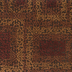 """Loloi Rugs - Loloi Rugs Alexi Collection - Brown / Spice, 9'-3"""" x 13' - The Alexi Collection from India has the perfect mix of textural detail, beautiful coloration, and soft 100% wool fiber. Featuring truly transitional patterns, Alexi can blend seamlessly with a range of interiors. And thanks to its hooked and hand tufted construction, each piece offers high low dimension."""