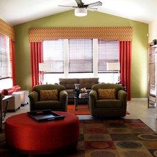 Eclectic Family Room by Shoshana Gosselin