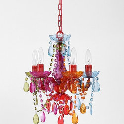Small Rainbow Chandelier - I've added this chandelier to my craft room wish list. Any aspiring artist would love this piece in the office, or it would also be great in a playroom to inspire creativity.